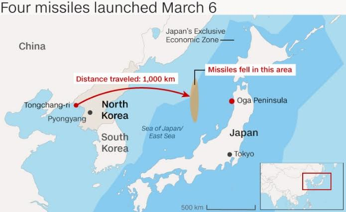 Japan Holds First Civilian Missile Drill Simulates North Korean - North korea map of us targets