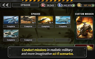 GUNSHIP BATTLE : Helicopter 3D v2.1.5 Apk + Data