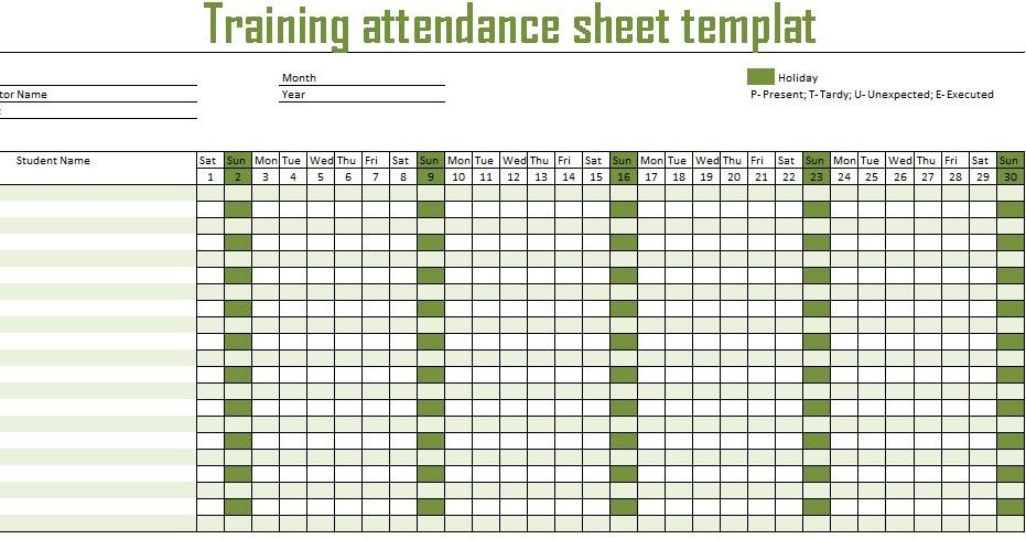 Employees Attendance Sheet 2017 – Attendance Sheet for Employees