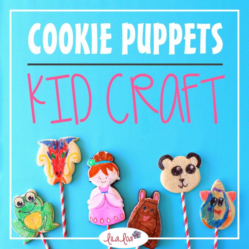 kids cookie decorating craft -- sugar cookie puppets with children