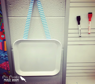 Melamine plate: Great way to keep track of who is in the restroom! Students write their name on the plate, then erase when they come back!