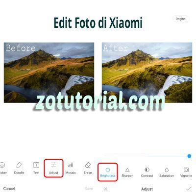 Cara Edit Foto jadi Terang di HP Xiaomi Tanpa Aplikasi by zotutorial.com