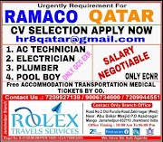 QATAR JOBS : REQUIRED FOR RAMCO IN QATAR .g