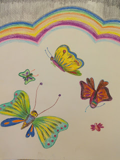 Drawing images of butterfly