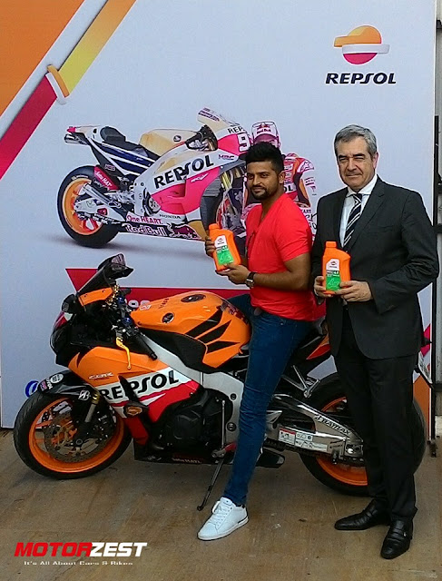 Suresh Raina Launches Repsol Engine Oil In India