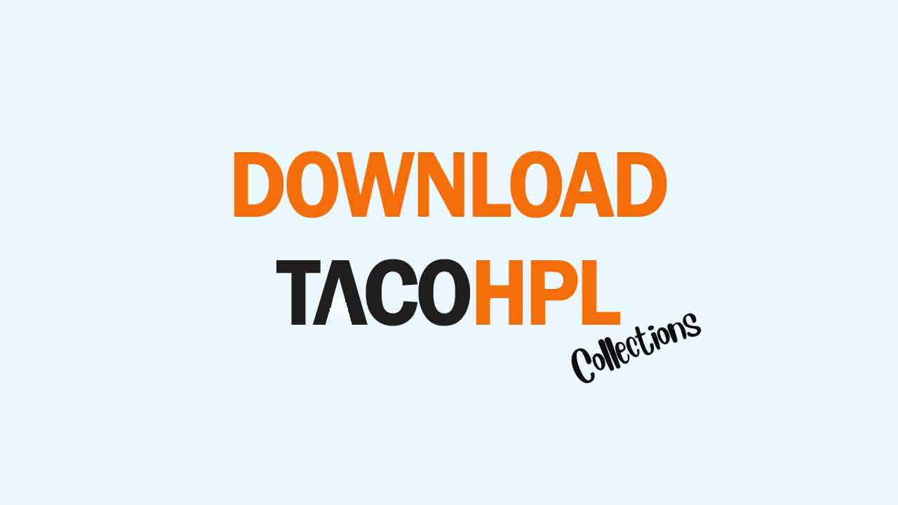 download material hpl taco collection