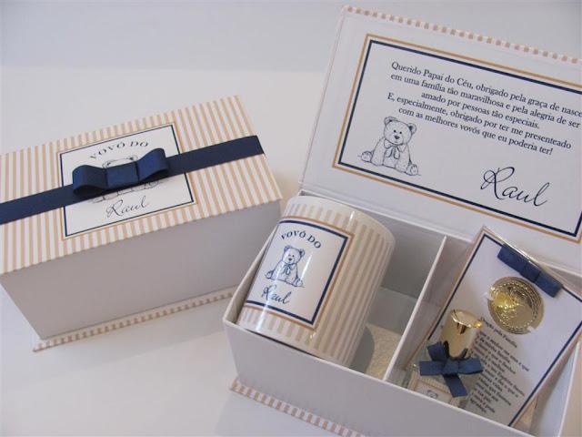 Caixa cartonada rígida, lembrancinha maternidade