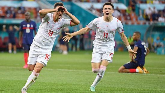 France 3:3 Switzerland