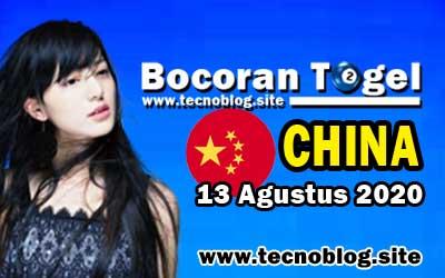 Bocoran Togel China 13 Agustus 2020
