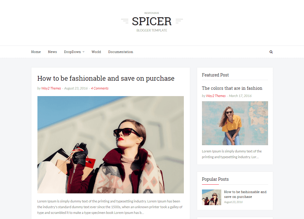 Spicer Simple Blogger Template is a uncomplicated beautiful blogger template that focuses on per Free Download Spicer Blogger Template