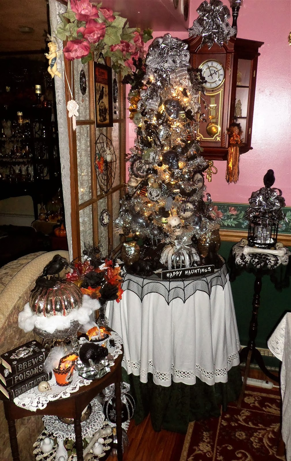 Halloween Tree in the Dining Room, 2018