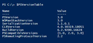 PowerShell & PowerCLI Version : How to find out the verion