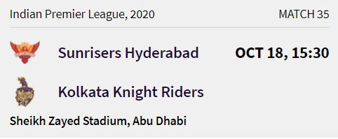 Kolkata Knight Riders match 9 ipl 2020