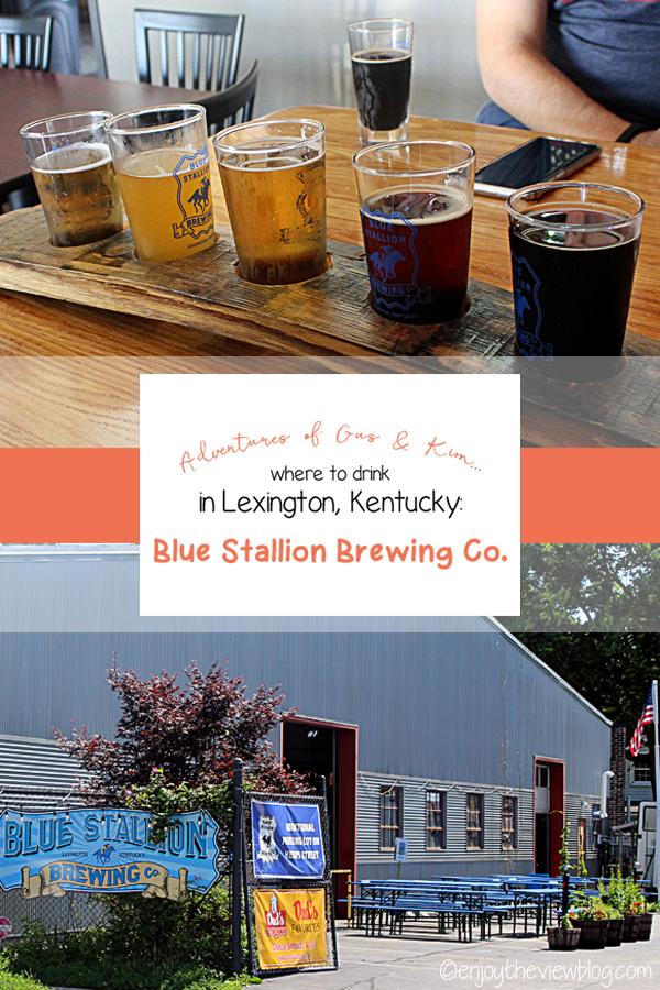 Tuesday Brewsday: One of my favorite breweries in Lexington, KY - Blue Stallion Brewing Company! Love their Sweet Fudgin' MIlk Stout! #craftbeer #beer #craftbeerlover #craftbeerlife #beerisgood #brewery #wheretodrink #daydrinking #brews #kybeer #kentucky #lexington #enjoytheviewblog #adventuresofgusandkim