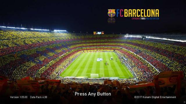 Barcelona Start Screen PES 2018