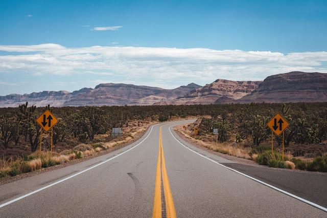 Empty highway in the desert.