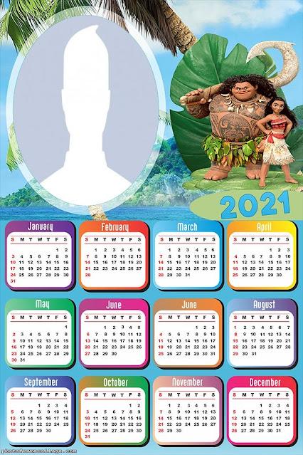 Calendar MoanaMoana: Free Printable 2021 Calendar