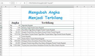 Cara Mengubah Angka Menjadi Huruf Terbilang di Excel