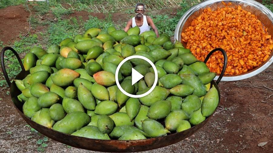 RAW MANGO Rice Prepared by my daddy Arumugam / Village food factory