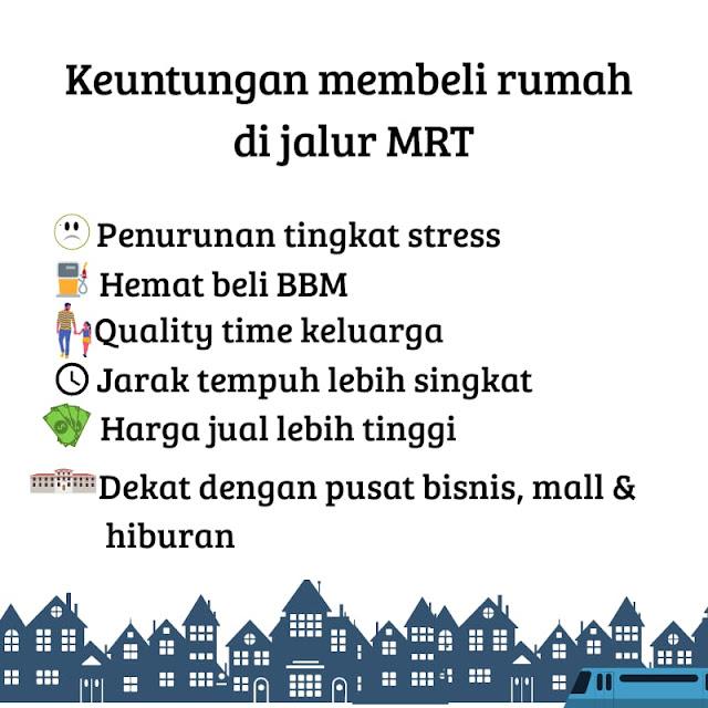 Rumah murah di jalur MRT