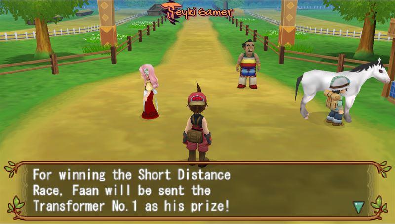 Horse Race - Harvest Moon Hero of Leaf Valley