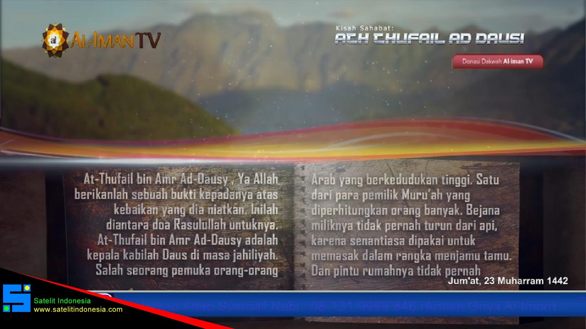 Frekuensi siaran Al-iman TV di satelit Telkom 4 Terbaru