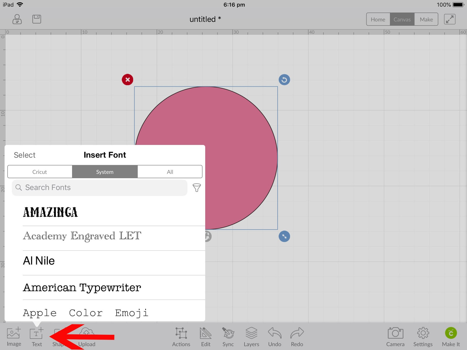 How to create curved text in Cricut design space mobile app | Design