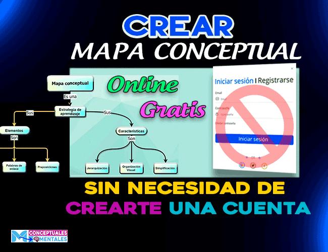 crear mapa conceptual en linea gratis sin registrarse
