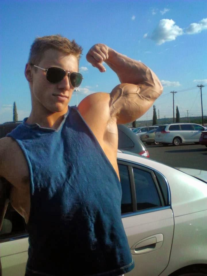 strong-cocky-college-bro-veiny-biceps-flex-car-bad-boy-sunglasses