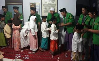 Harlah 85, Ansor Sampang Potong Tumpeng dan Santuni Anak Yatim