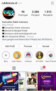 Profile akun instagram dari Rubiknesia