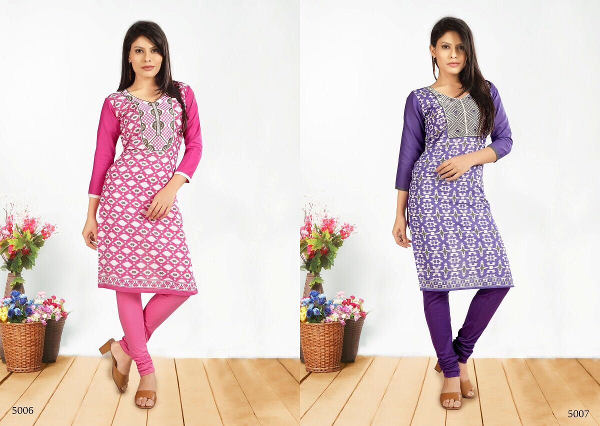 HASINA VOL 5 – New Arrival Designer Cotton Kurti