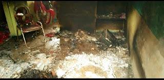 आग लगने से मां सहित दो बच्चे जिंदा जले