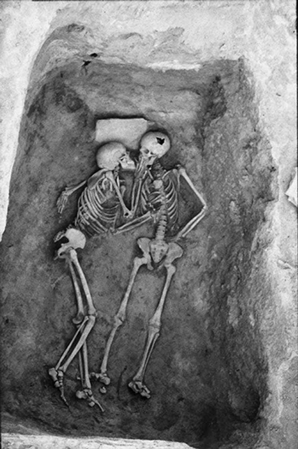 The 2800 years old kiss as if to signify that love is eternal.