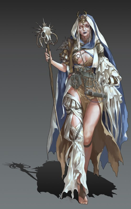 Mam BA artstation arte ilustrações fantasia oriental mulheres