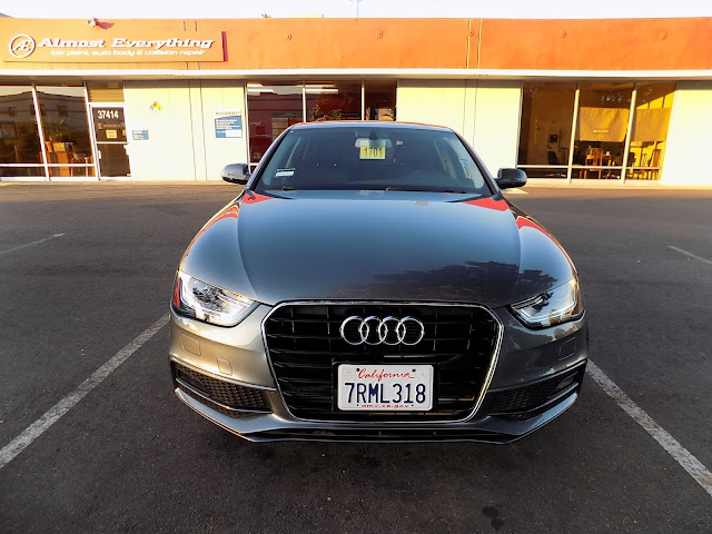 2016 Audi A4 after auto body repairs at Almost Everything Auto Body.
