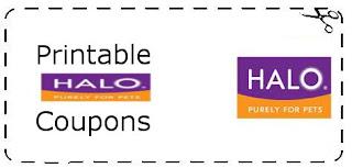 Halo Dog Food Printable Coupons