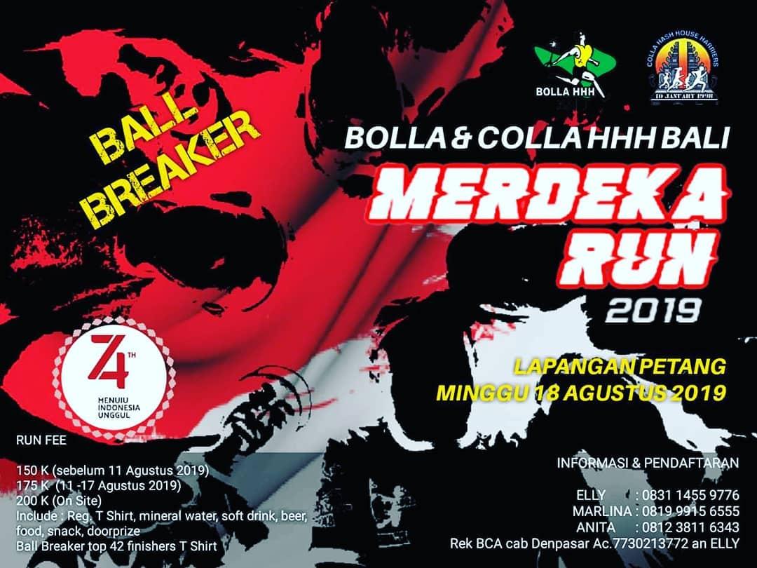 Bolla & Colla HHH Bali Merdeka Run • 2019