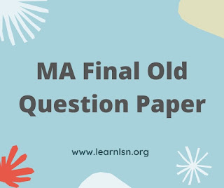Modern and contemporary political MA final Old question paper MGSU 2021