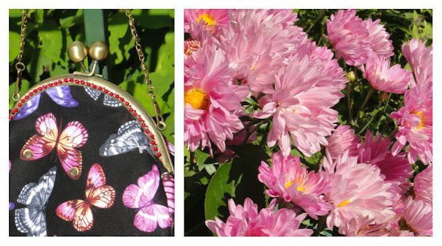 Женская сумочка на цепочке Бабочки - подарок девушке, подарок женщине