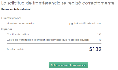Solicitud de transferencia Mercawise