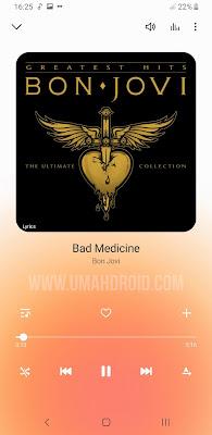 Memunculkan Lirik Lagu di Samsung Music Player