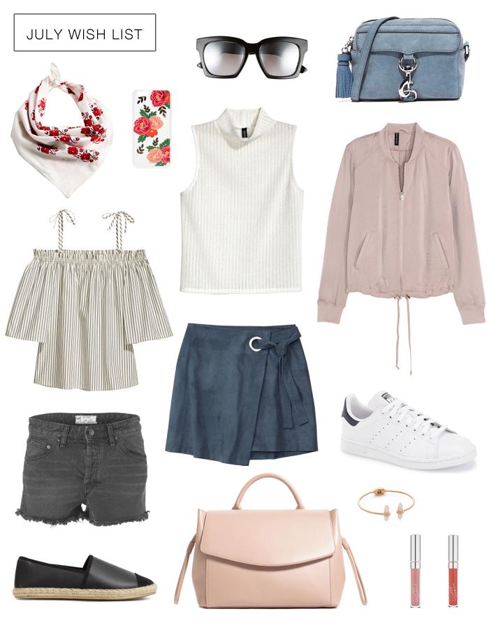 Summer shopping wish list