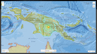 Un fort tremblement de terre secoue la Papouasie-Nouvelle-Guinée