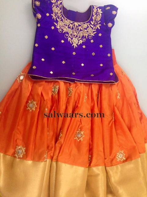 Orange Purple Lehenga