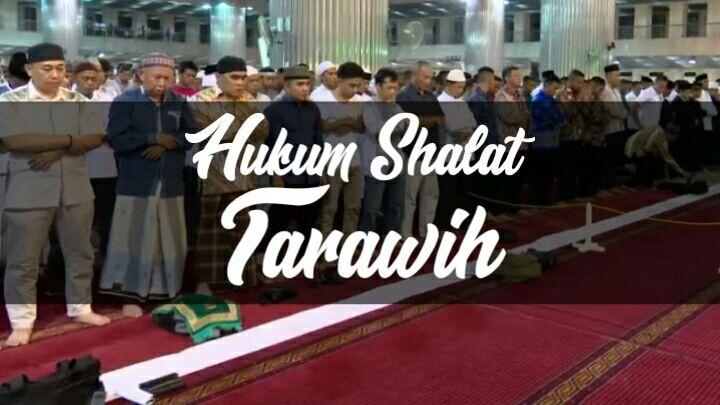 hukum shalat tarawih pada malam hari di bulan ramadan