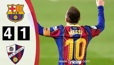 ملخص مباراة برشلونة و هويسكا