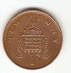 UK Britain One New Penny