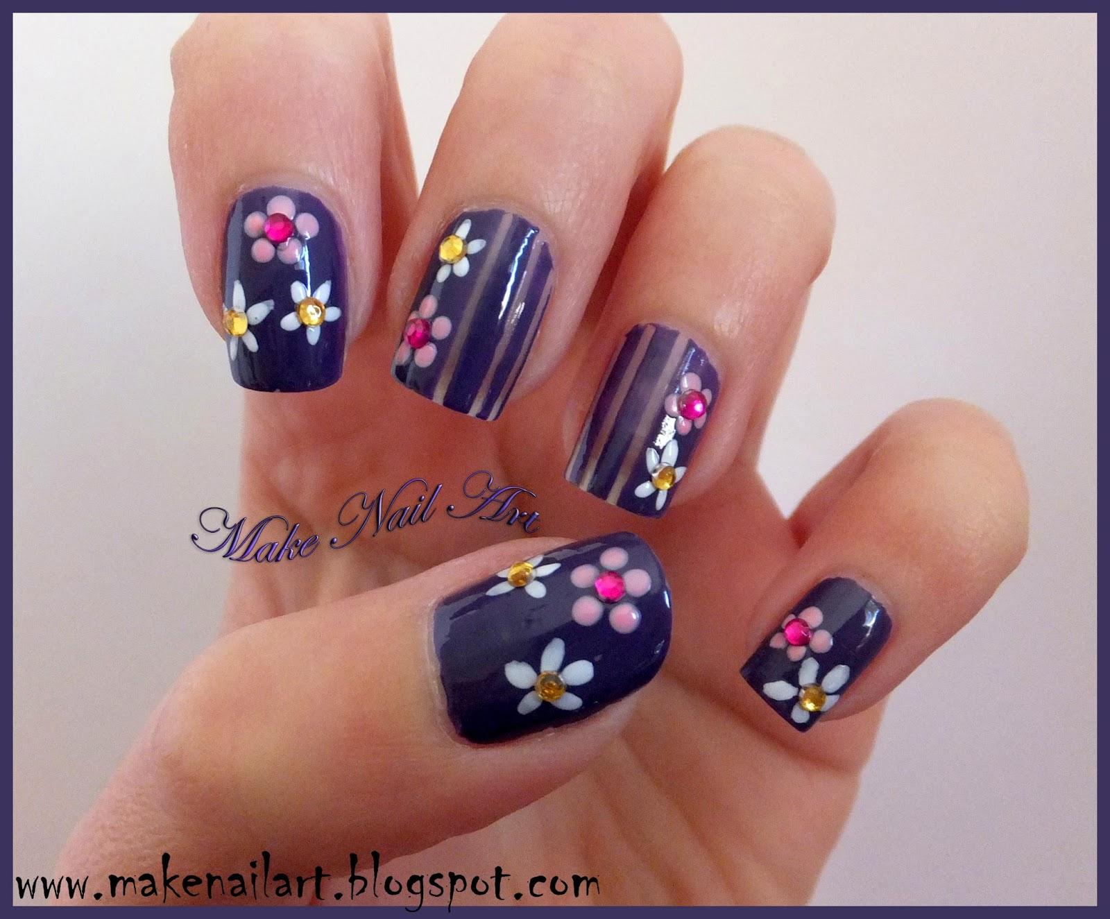 Make Nail Art: Easy Flower Nail Design For Spring Nail Art ...