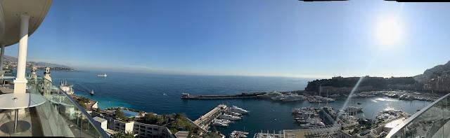Panorama of Monaco from the top of the  Hôtel de Paris (Photo Marc Monnet)